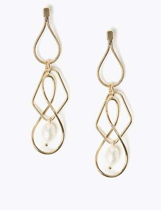 AutographMarks and Spencer Spiral Pearl Drop Earrings
