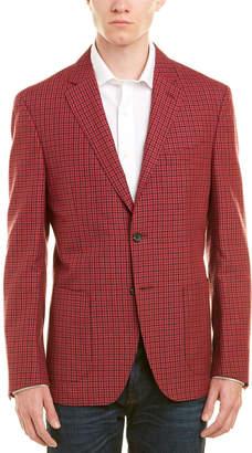 Q By Flynt Booth Modern Fit Wool & Linen-Blend Sport Coat