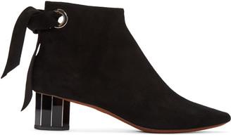Proenza Schouler Black Suede Boots $1,085 thestylecure.com