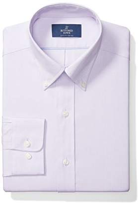 Buttoned Down Men's Classic Fit Solid Non-Iron Dress Shirt (3 Collars Available)