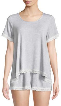 Kate Spade Lace-Trim Short Pajama Set