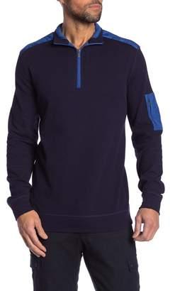 Bugatchi Classic Fit Melange Knit Quarter Zip Sweater