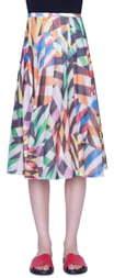 Akris Punto Patchwork Print Mesh Midi Skirt