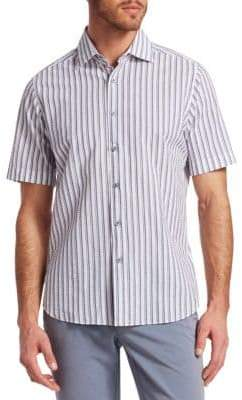 Saks Fifth Avenue COLLECTION Seersucker Stripe Woven Cotton Button-Down Shirt