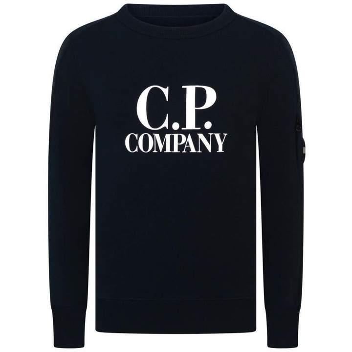 C.P. CompanyBoys Navy Logo Sweater