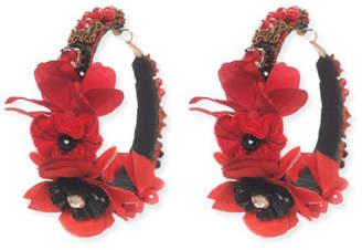 Ranjana Khan Floral-Embellished Hoop Earrings