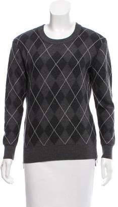Haute Hippie Wool Argyle Sweater