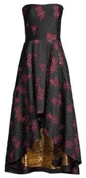 Shoshanna Paladino Strapless Floral Dress