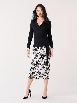 Diane von Furstenberg Kara Silk Cady Pencil Skirt