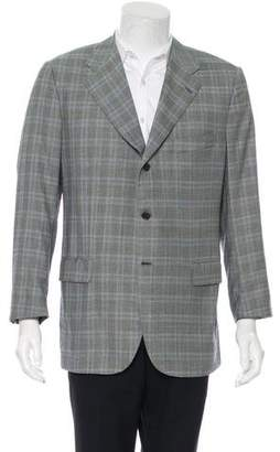 Kiton Plaid Wool Blazer