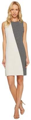 Vince Camuto Sleeveless Modern Slant Shift Dress Women's Dress