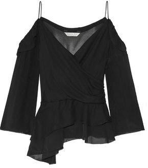 dbcdf21e805a8 Deitas Silk Off The Shoulder Blouse White Fashion New S