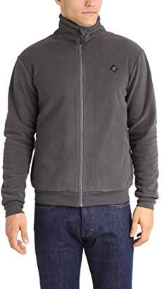 795ee7bd1e47a Lower East Men's Fleece Jacket with stand-up collar, Gray, ...