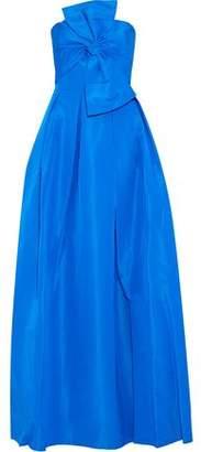 Sachin + Babi Leora Strapless Bow-Embellished Silk-Faille Gown