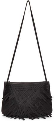 Bottega Veneta Black Palio Fringes Double Strap Bag