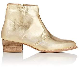 Esquivel Women's Jessie Metallic Leather Ankle Boots - Gold