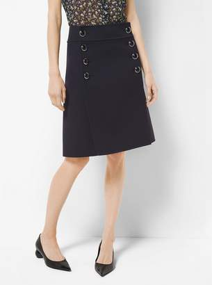 Michael Kors Crepe-Broadcloth Skirt