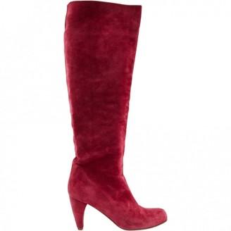 Michel Vivien Pink Suede Boots