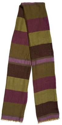 Loro Piana Striped Cashmere Scarf Purple Striped Cashmere Scarf