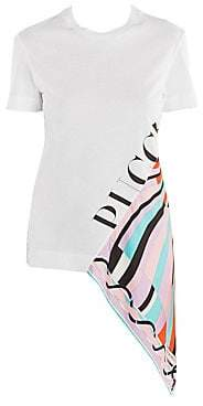 Emilio Pucci Women's Asymmetric Jersey Cotton T-Shirt