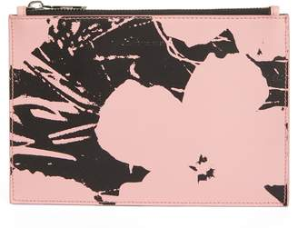 Calvin Klein x Andy Warhol Foundation Flowers Leather Pouch