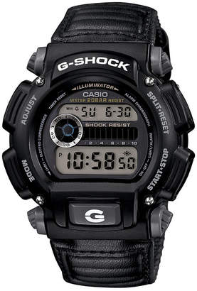 G-Shock G SHOCK Mens Black Nylon Strap Sport Watch DW9052V-1
