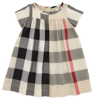 Burberry Giant-Check Dress, 12M-3Y