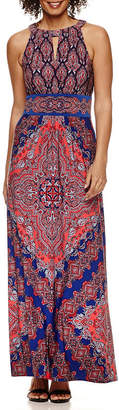 LONDON STYLE Pattern Maxi Dress