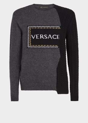 Versace Damier Logo Demi Sweater