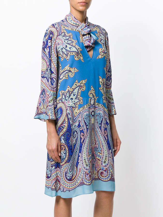Etro paisley print shift dress