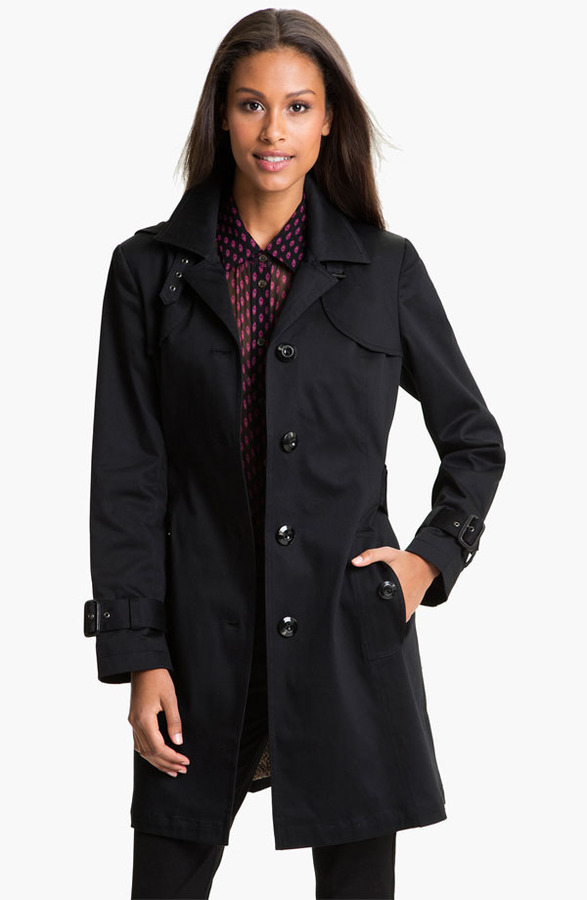 Gallery Single Breasted Trench Coat