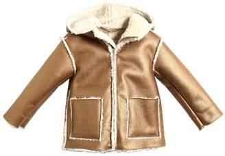 Il Gufo Faux Shearling Metallic Coat