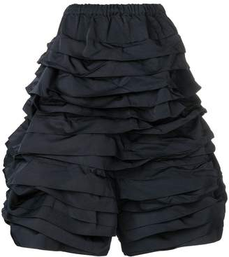 Comme des Garcons ruched tiered trousers