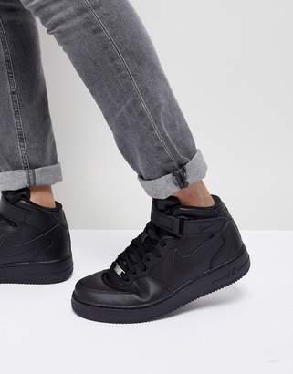 Nike Force 1 Mid '07 Sneakers In Black 315123-001