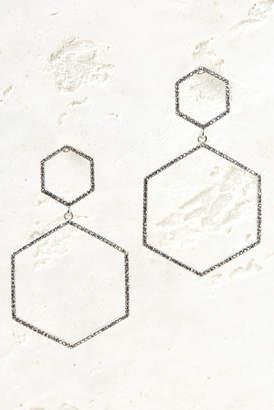 Hematite Hexagon Drop Earrings