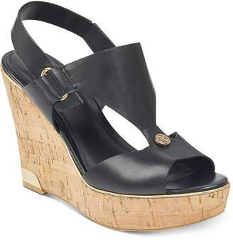GUESS Women's Hulda Platform Wedge Sandals Women's Shoes