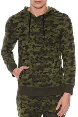 2xist Camouflage Terry Pullover Hoodie Lounge Sweatshirt