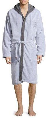 Brunello Cucinelli Terry Cloth Cotton Spa Robe, Gray $1,430 thestylecure.com