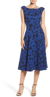 Betsey Johnson Floral Jacquard Fit & Flare Midi Dress $158 thestylecure.com