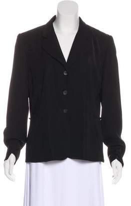 Halston Notch-Lapel Button-Up Jacket