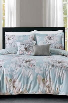 California Design Den by NMK Painters Bloom 5-Piece King Comforter Set - Blue