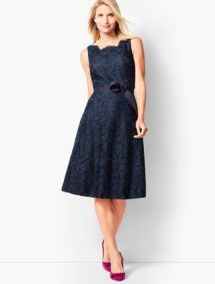 Talbots Scallop-Edge Fit & Flare Dress