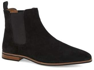 Topman Mens Black Suede Chelsea Boots