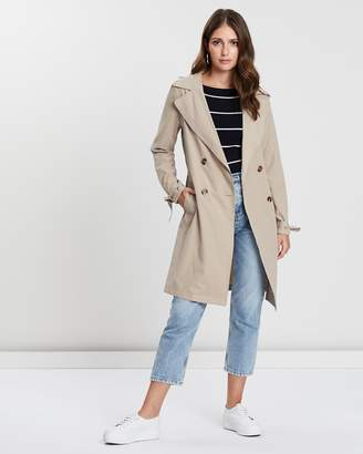 Dorothy Perkins Button Front Mac Jacket