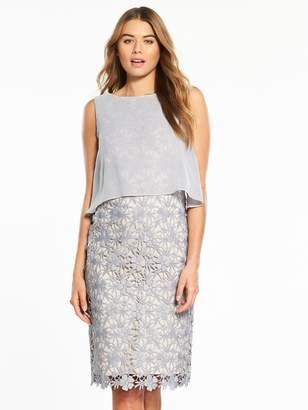 Phase Eight Tuileries Layered Lace Dress - Smoke