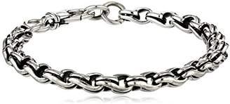 Zina Sterling Men's Collection Wrap Men's Link Bracelet