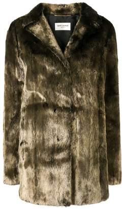 Saint Laurent metallic mink fur coat