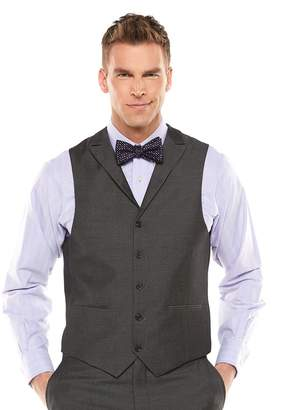Savile Row Men's Sharkskin Gray Suit Vest