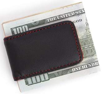 Royce Leather ROYCE Magnetic Money Clip Handcrafted in Genuine Leather - Red/Black