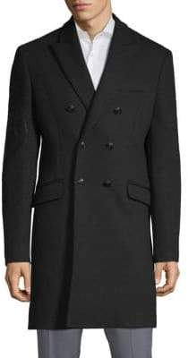 Pierre Balmain Embroidered Double-Breasted Coat